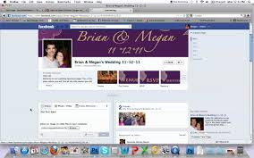 facebook wedding page