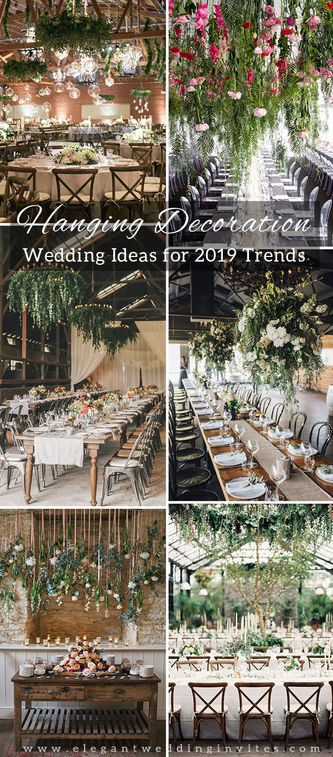hanging greenery decoration ideas for your wedding reception party 1