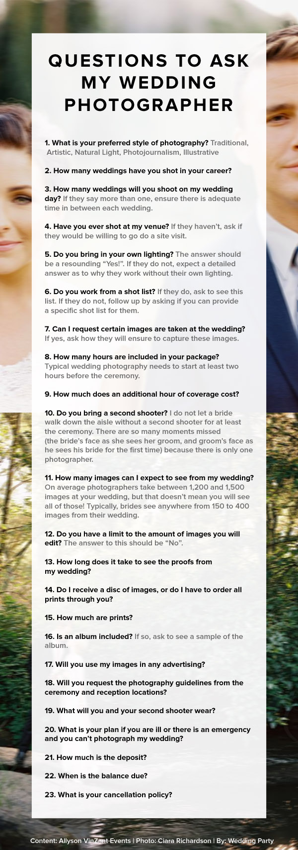 questions to ask photographer